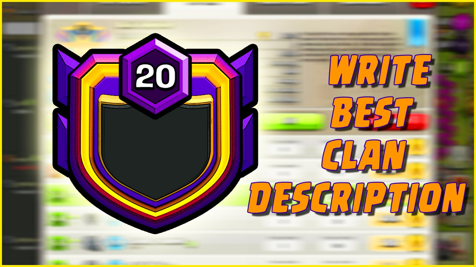 Clash Of Clans Clan Description Write The Best One Today Build