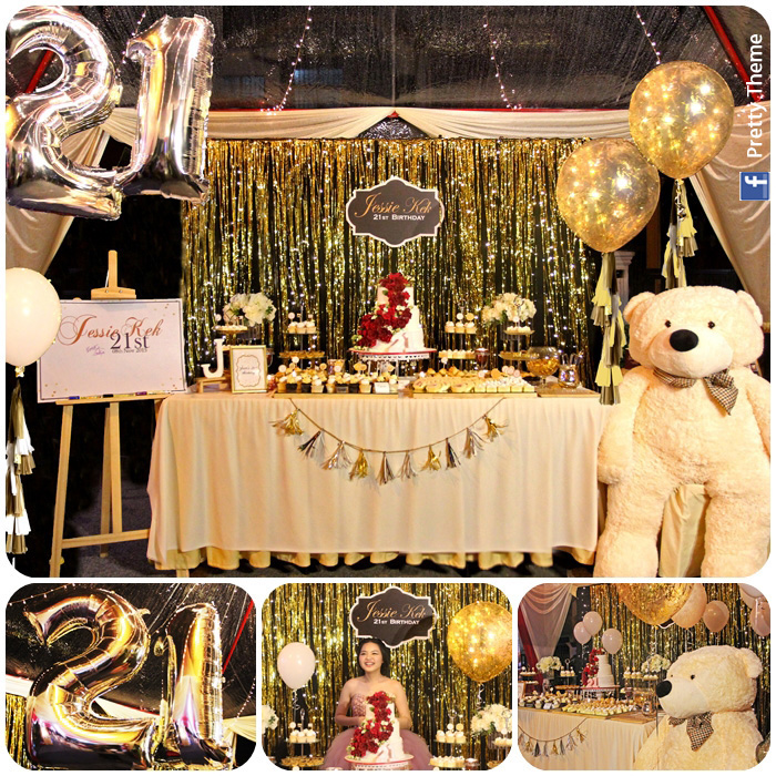 21st Birthday Decorations Black And Gold Image Inspiration of Cake