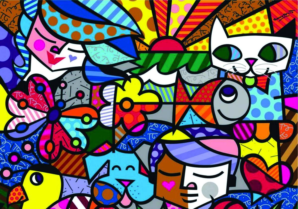 859de35fb Romero Britto é um pintor brasileiro muito conhecido no mundo, com obras  coloridas, vivas, alegres! Com certeza você já deve ter visto alguma obra  dele.