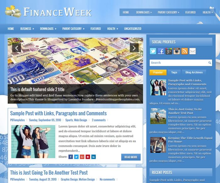 FinanceWeek Blogger Template