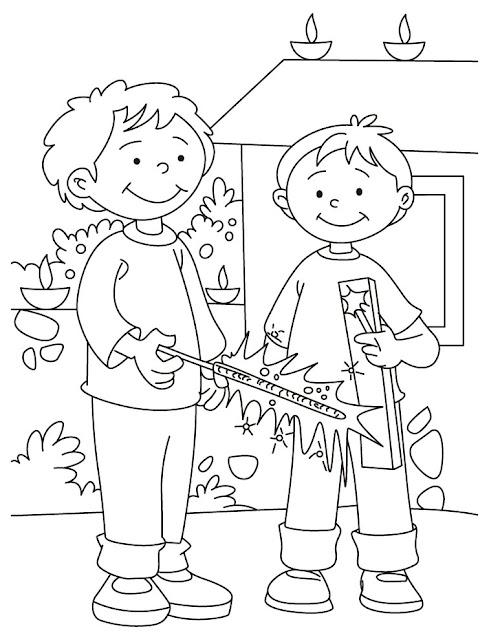 Diwali Sheet Drawing Pages