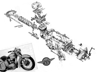Préparation des motos de course des années 50 à 70