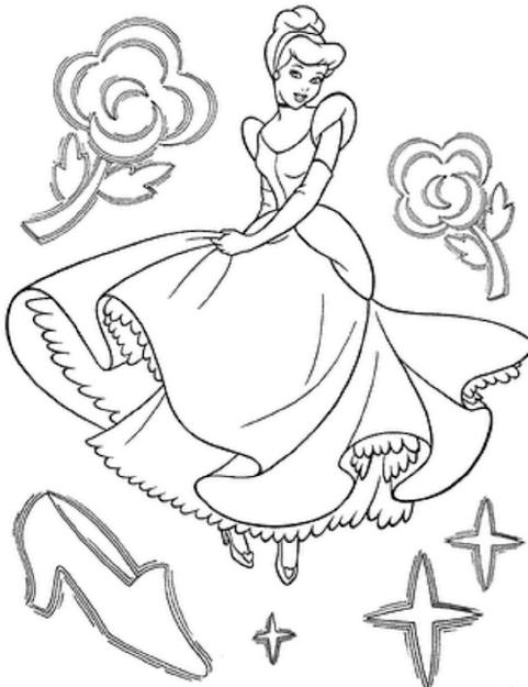 Cinderella Coloring Pages Printable