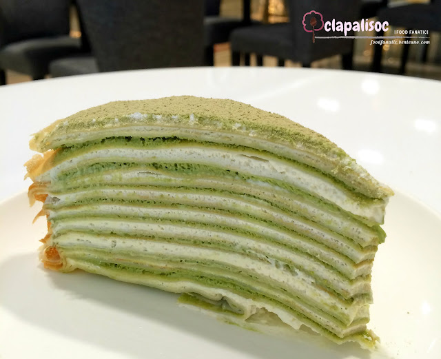 Matcha Mille Crepe from Paper Moon Cafe