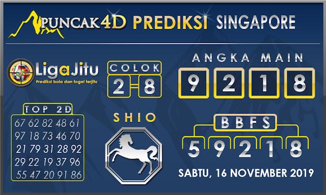 PREDIKSI TOGEL SINGAPORE PUNCAK4D 16 NOVEMBER 2019