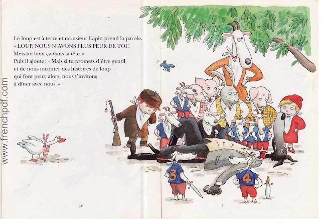 Le loup est revenu pdf gratuit une belle conte les enfants