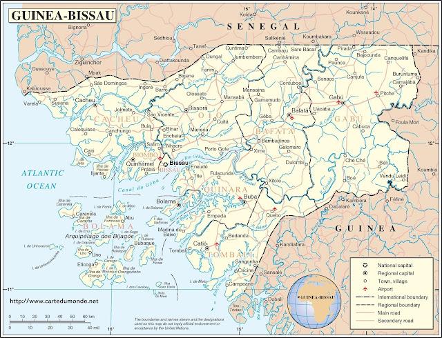 Guinée Bissau - Carte générale