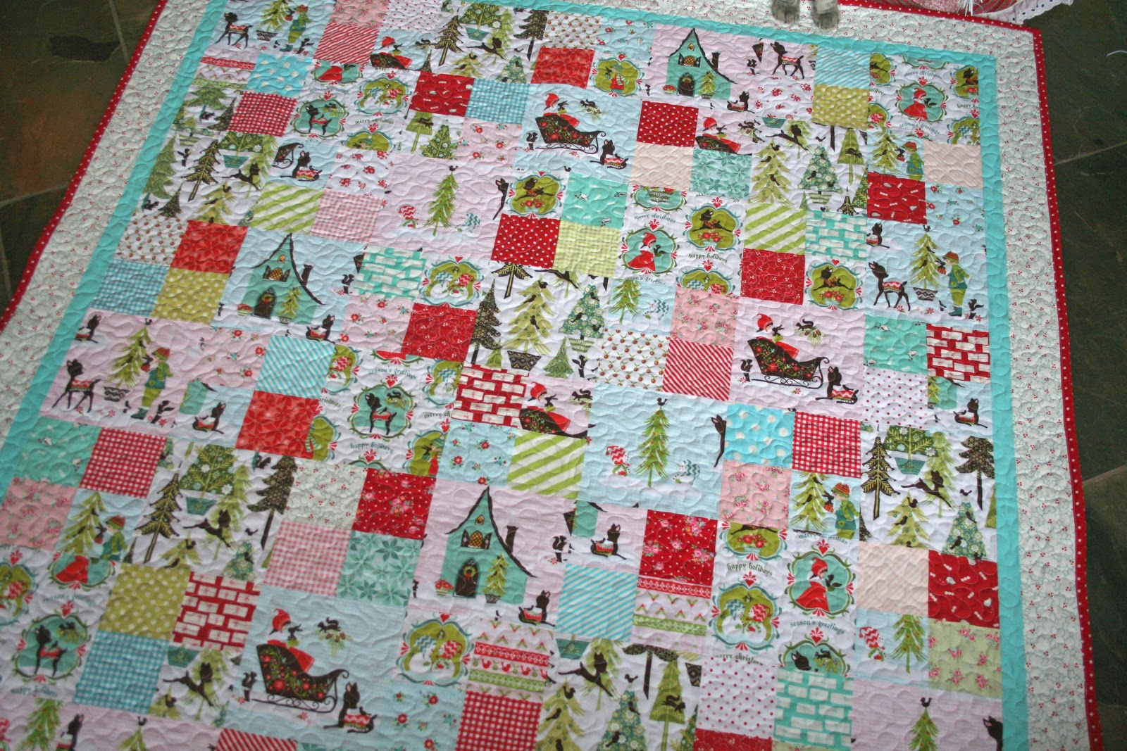 Custom All Stars >> lovely little handmades: the patchwork christmas quilt~ all done!!