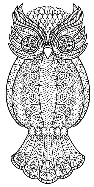 An Owl From Patterns Coloring Book Vol
