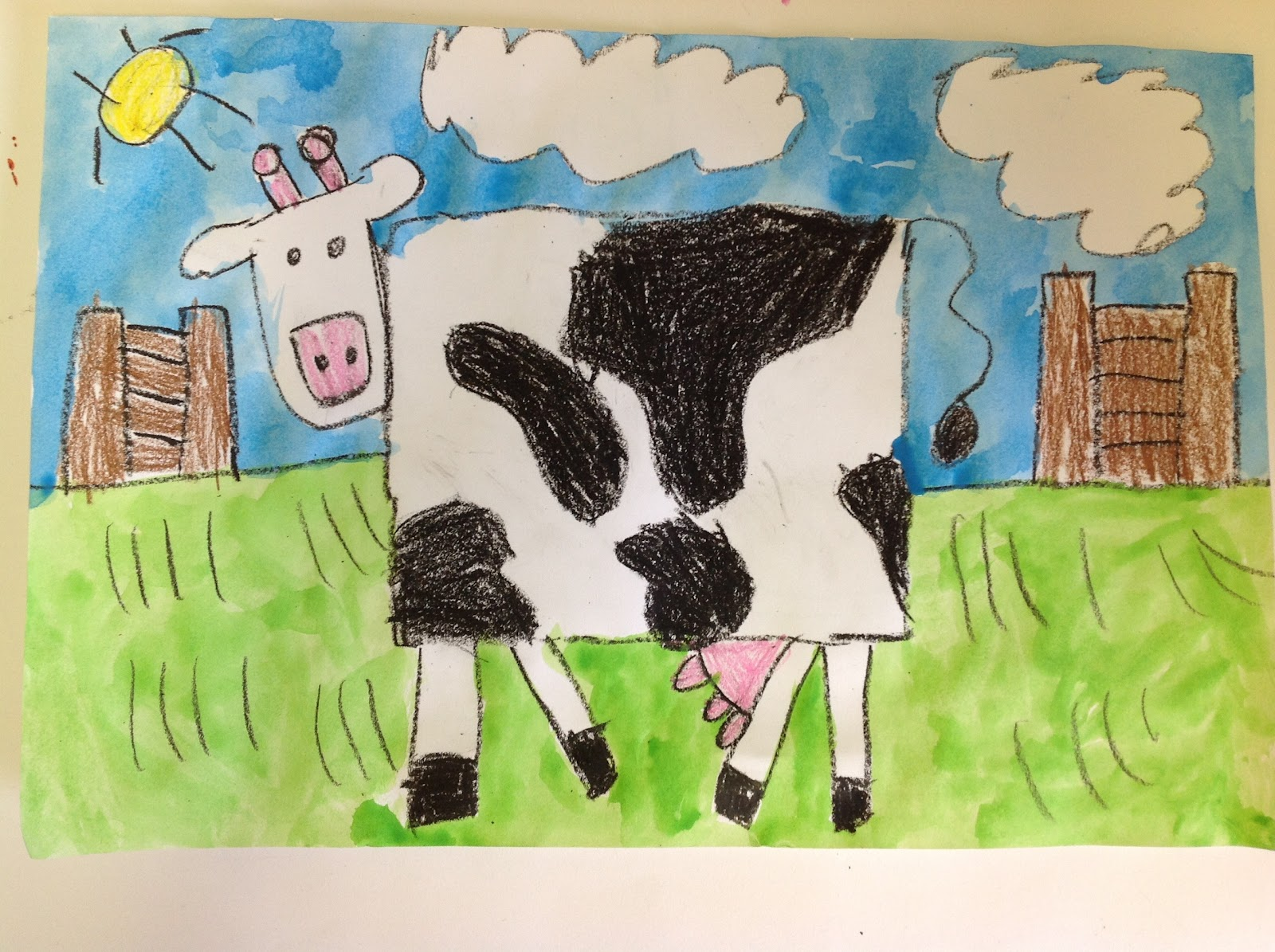 Color It Like you MEAN it!: Kindergarten cows!