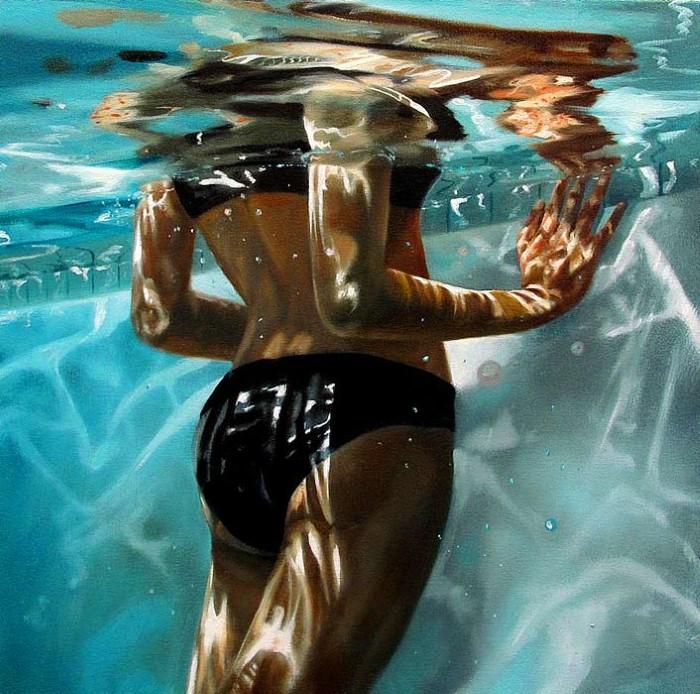 Eric Zener. Художник-самоучка. Вода и люди 27