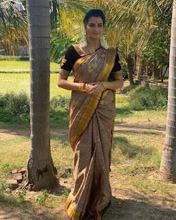 Serial Actress Rashmi Jayraj Latest Saree Photos