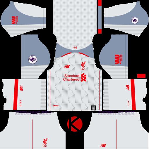 a6bc054bcb4 Liverpool FC 2018/19 Kit - Dream League Soccer Kits - Kuchalana