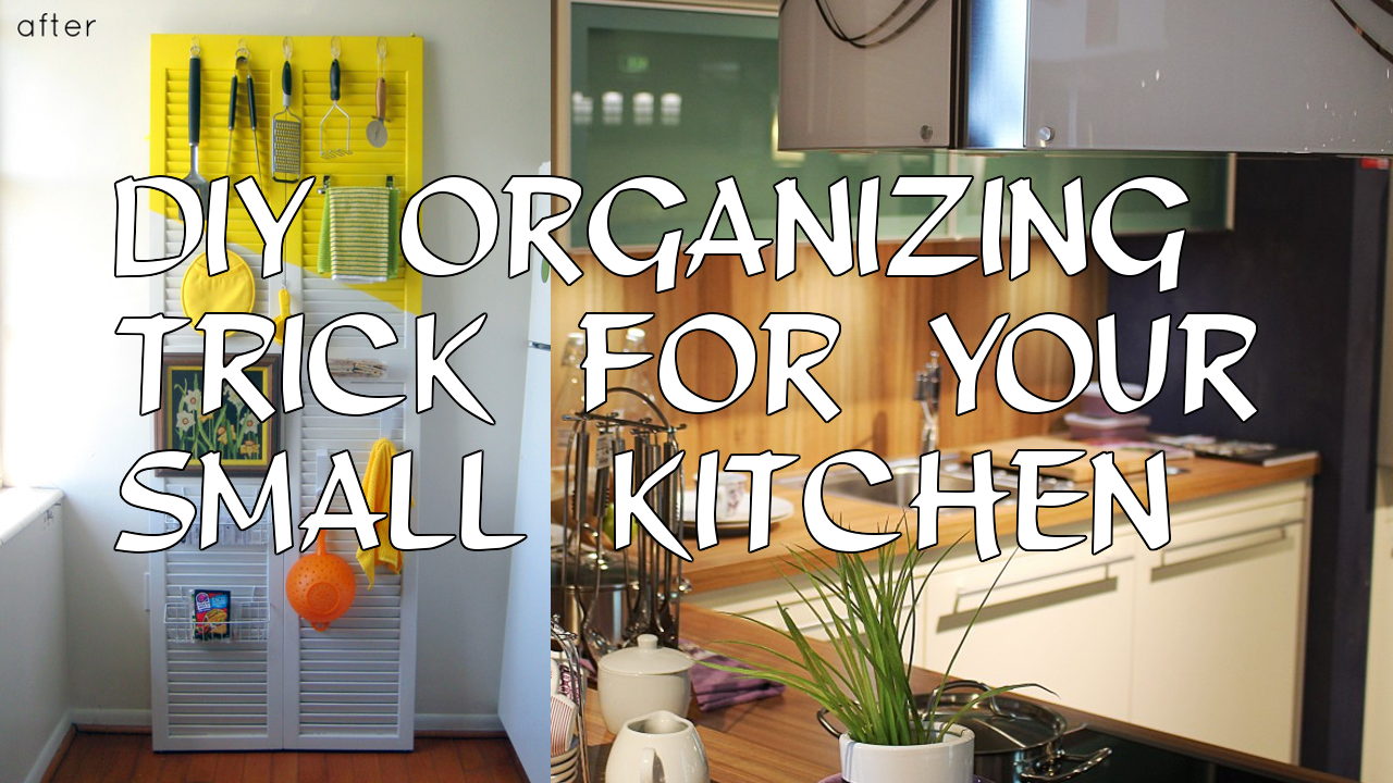 DIY Organizing Trick for Your Small Kitchen