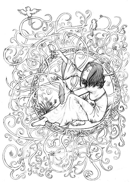 Art Adult Coloring Books  Art Nouveau Coloring Pages  Coloring Pages   Pictures  Imagixs