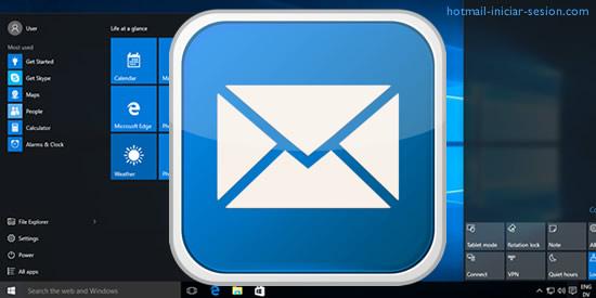 cuenta de Outlook con una cuenta local de Windows 10