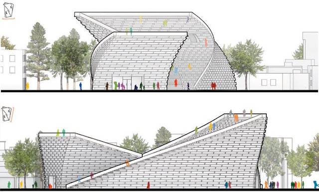 Elevation of Ying yang public library