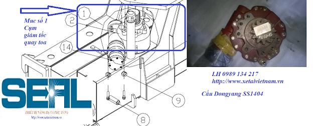 Bán Hộp giảm tốc quay toa-Cụm giảm tốc quay toa cẩu Dongyang SS1404-SS1406 Hàn Quốc