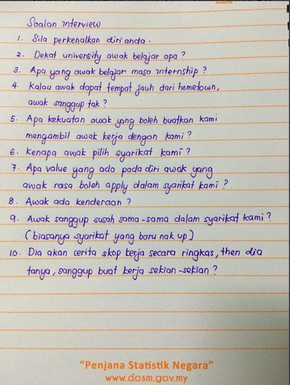 10 Soalan Temuduga Selalu Ditanya