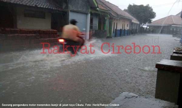 wilayah cibatu majalengka sering banjir saat diguyur hujan