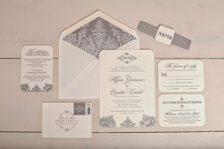 Initial Wedding Invitations: Nico And LaLa: Monogrammed Wedding Invitations