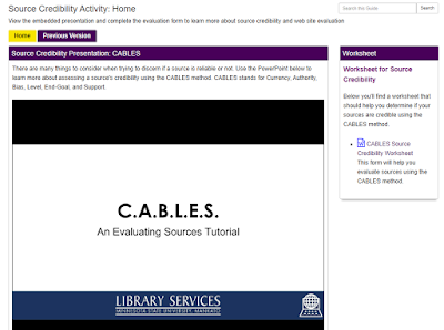 Our new CABLES presentation online