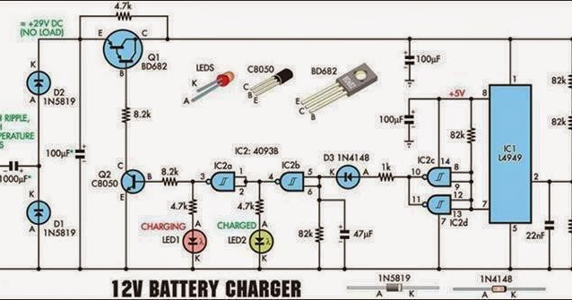 Electrical Engineering World: 12 Volt Battery Charger
