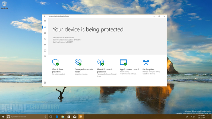 Windows 10 Fall Creators Update to introduce Controlled folder access in Windows Defender (www.kunal-chowdhury.com)