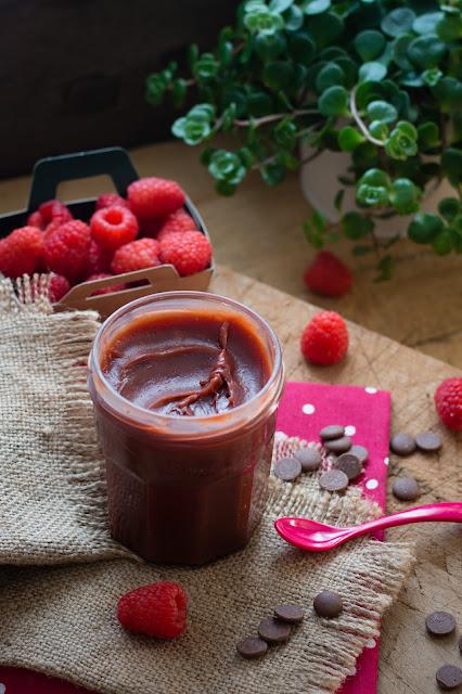Caramel à tartiner chocolat framboise