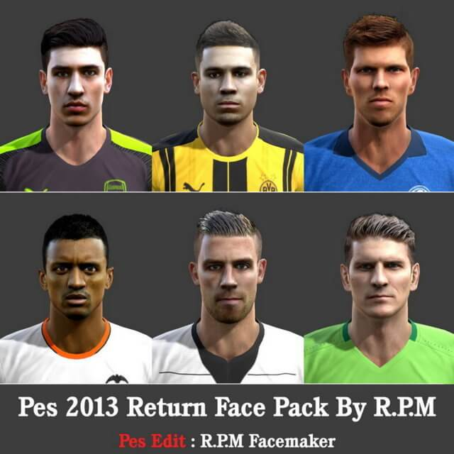 PES 2013 Facepack Update 2017