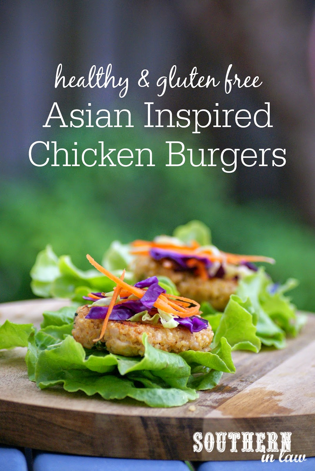 Southern In Law Recipe Asian Inspired Chicken Burgers