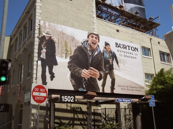 Burton Outdoors for all seasons billboard