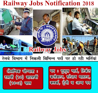 Railway Recruitment 2018, Railway Jobs 2018