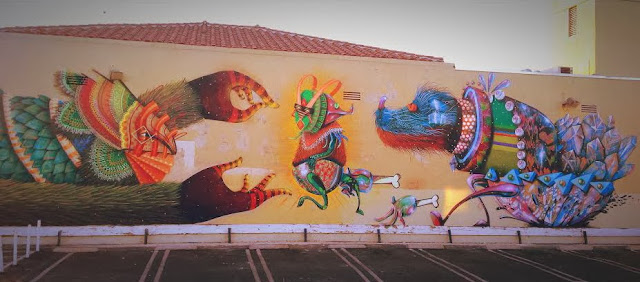 Street Art Collaboration By Curiot And Nosego In Compton, Los Angeles, USA. 1