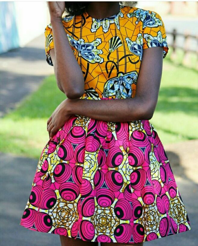 Two different Ankara patterns