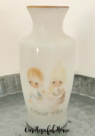 Precious Moments Forever Mine bud vase collectible 1970