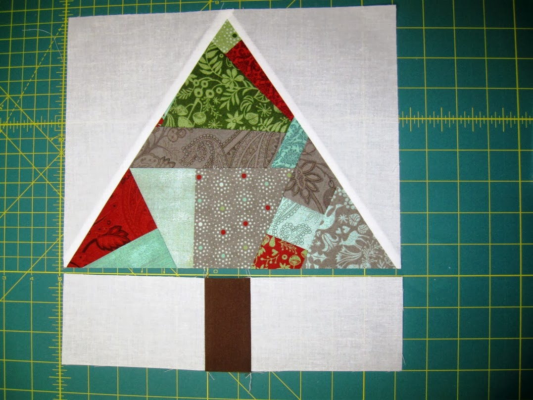 Happy Quilting: Paper Pieced Improv Trees & O Christmas