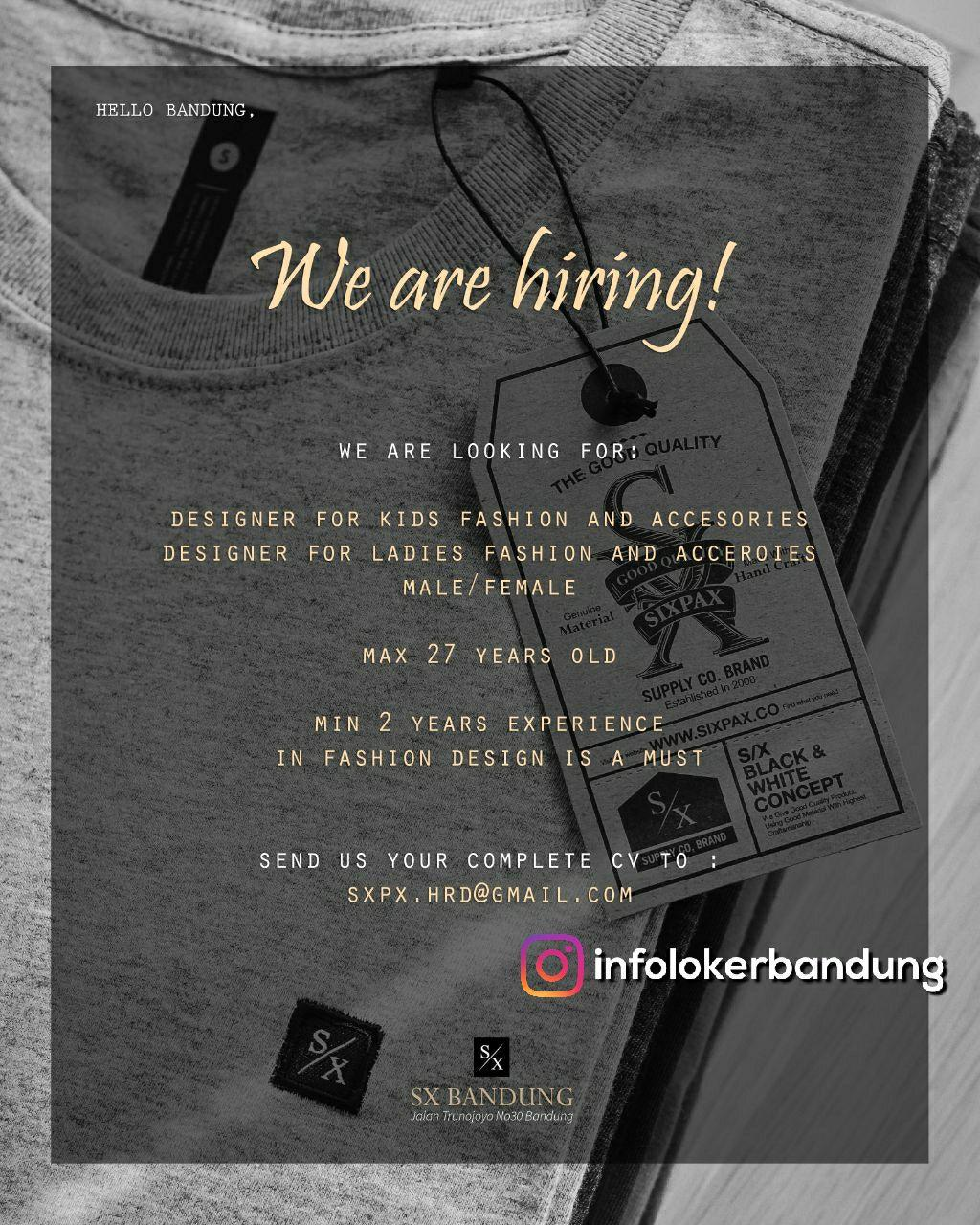 Lowongan Kerja SX Bandung Januari 2018