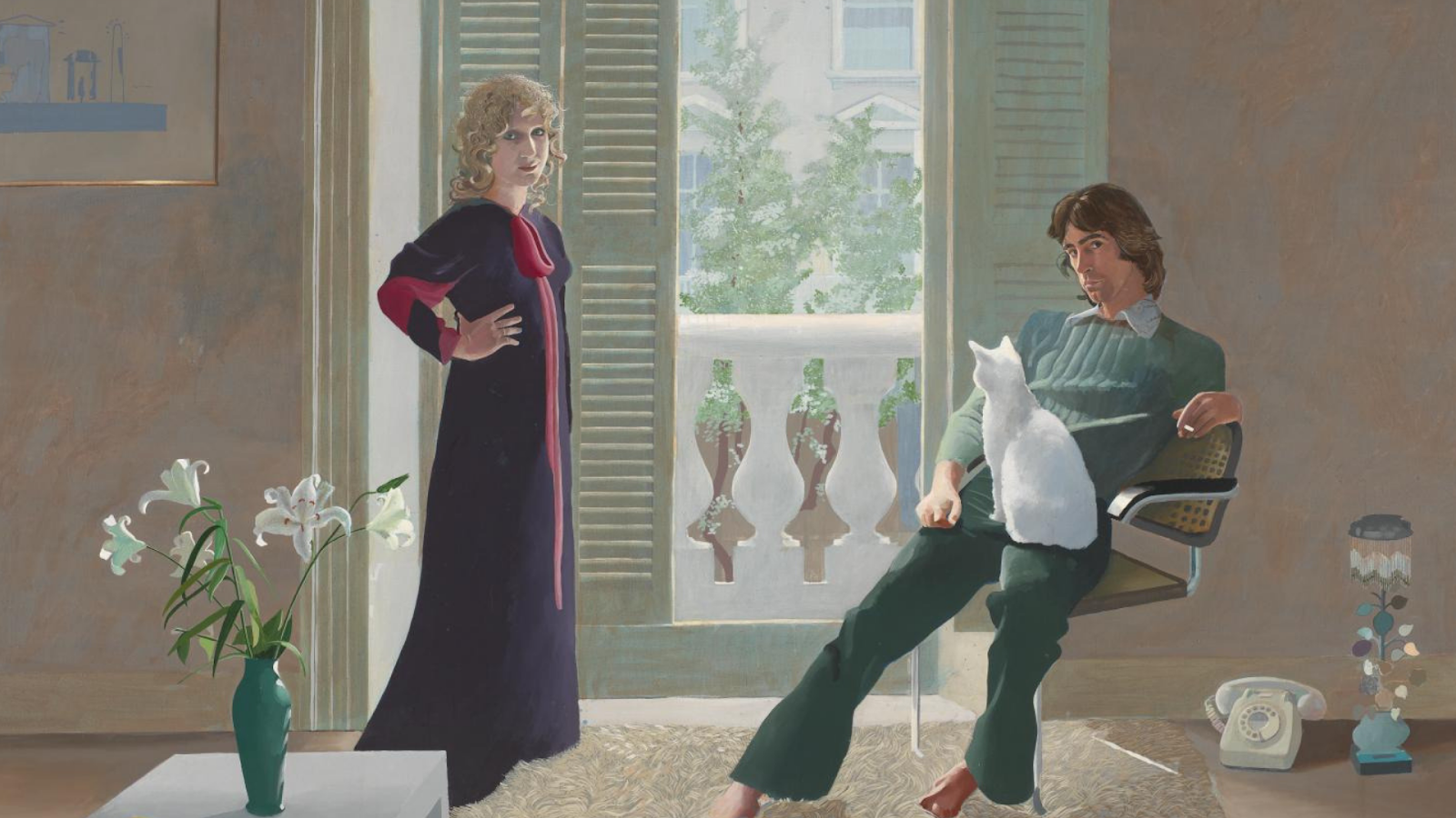 Obraz Davida Hockney'a - scena z życia małżeńskiego | nowy film na kanale