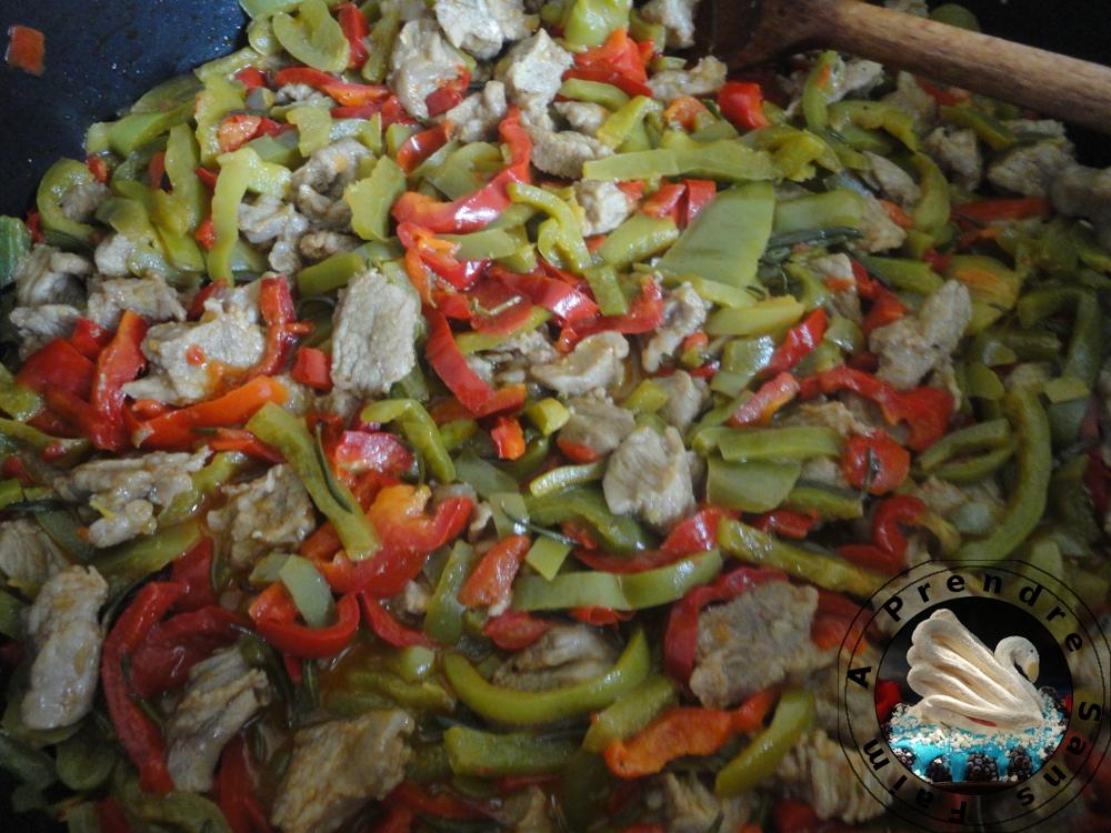Sauté de veau aux poivrons