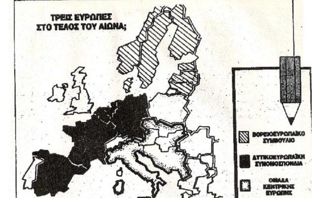 Χάρτης του 1990 αποκαλύπτει τη νέα Ευρώπη – Βρετανία και Ελλάδα είναι εκτός