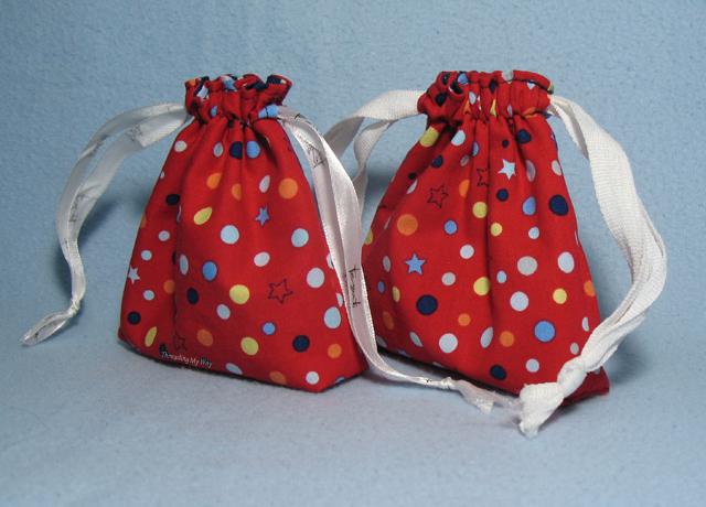 Fabric Christmas Gift Bags