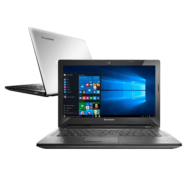 "Notebook Lenovo com gravador de DVD, webcam, LED 14"" e Windows 10"