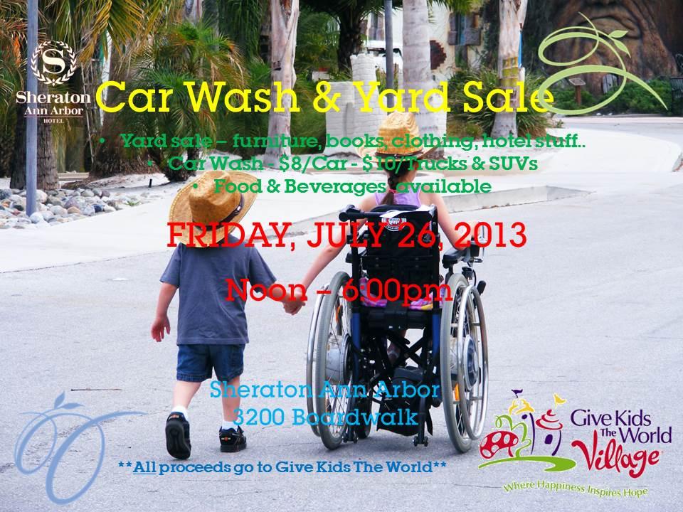 Give Kids The World Car Wash Garage Sale Fundraiser At Sheraton