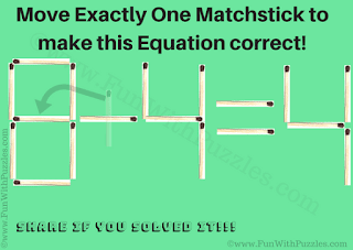 Answer of Matchstick Brain Teaser for Kids