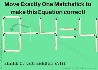 Answer of Matchstick Brain Teaser for Kids