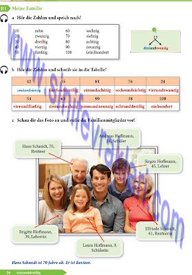 9. Sınıf Almanca A1.1 Ders Kitabı Cevapları Sayfa 34