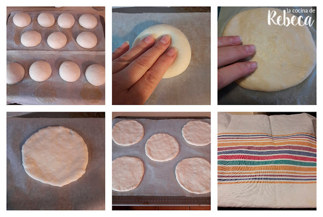Receta de pan tipo mollete: formado de los panes
