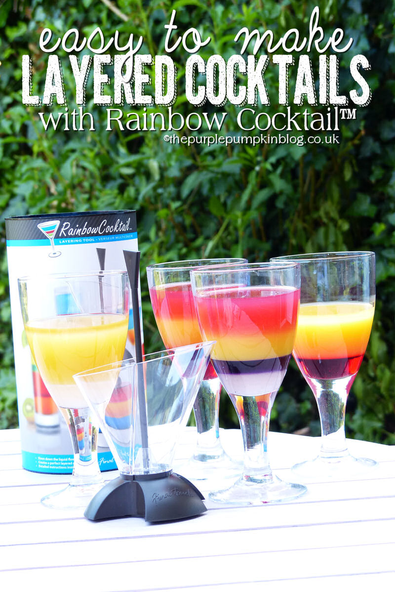 Easy to make layered cocktails with rainbow cocktail for Fun alcoholic drinks to make