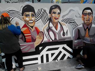 Live Mural oleh seniman-seniman Mural Art